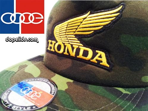 smartpatches Vintage Style Honda Motorcycle Hat (Camo Hat, Gold Wing)