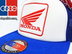 smartpatches Honda Motorcycle Hat (Blue and White)