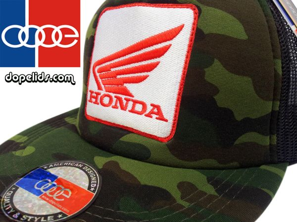 smartpatches Honda Vintage Style Motorcycle Trucker Hat (Camo)