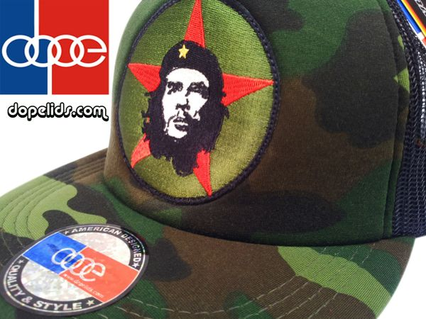 "smartpatches ""Che Guevara"" Vintage Style Revolution Trucker Hat (Camo Hat)"