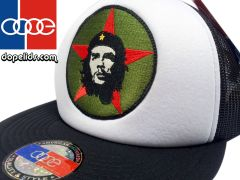 "smartpatches ""Che Guevara"" Vintage Style Revolution Trucker Hat (Black/White Hat)"