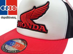 smartpatches Honda Vintage Style Motorcycle Trucker Hat (Red/White/Black)