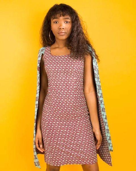 Yvonne Cape Dress