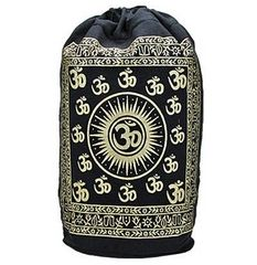 GOLD OM SYMBOL COTTON BACKPACK