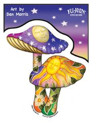 Dan Morris Celestial Shrooms Sticker