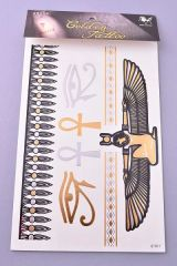 Egyptian Metallic Temporary Tattoos