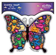 Dan Morris Grateful Dead Dancing Butterfly Sticker