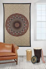 Indian Circle Star Elephant HIPPIE Tapestry