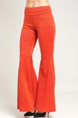 Elegant Boho Hippie EMBOSSED BELL BOTTOM PANT