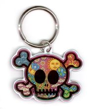 Dan Morris Cute Skull Metal Key Chain