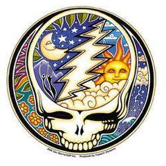 Dan Morris Grateful Dead Night & Day Steal Your Face Sticker