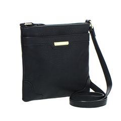 FAUX LEATHER CROSS BODY HANDBAG