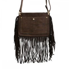 BOSCO NEBBIOSO FRINGE FRONT POCKET CROSS BODY HANDBAG