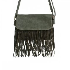 ALFA BAGS FLAP OVER FRINGE CROSS BODY FRINGE HANDBAG