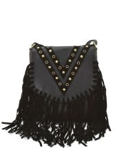 BOSCO NEBBIOSO CHEVRON FRINGE CROSS BODY HANDBAG