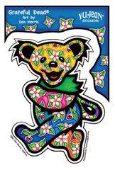 Dan Morris Tropical Grateful Dead Dancing Bear Sticker