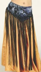 VELVET TIE DYE LONG FRINGE HIP WRAP
