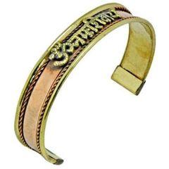 Copper Hindu Om Namah Shivaya Tibetan Cuff Bracelet