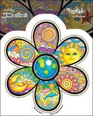 Dan Morris Earth Flower Sticker