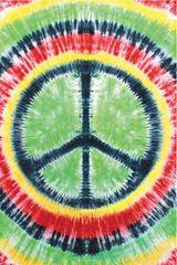 Hippie Trippie Tie Dye Peace Tapestry