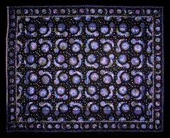 Solar Eclipse Over Print Tapestry