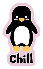 Krisgoat Chill Penguin Sticker