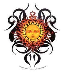 Richard Biffle Tribal Sun Sticker