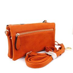 Multiple Zipper Fashion Wristlet Wallet and Crossbody