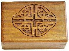 Celtic Carved Wood Box