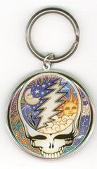 GRATEFUL DEAD STEAL YOUR FACE HAND KEY CHAIN BY DAN MORRIS