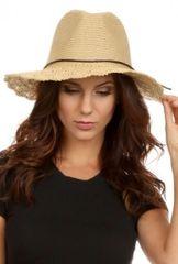 Sweet Straw Crochet wide brim panama hat in Natural