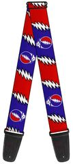 Grateful Dead Steal your Face Lightning Bolt Guitar Strap
