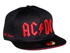 AC/DC Red Logo Flat Bill Snapback Hat