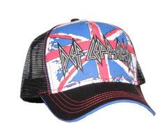 Def Leppard Union Jack Mesh Back Trucker Hat