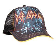 Def Leppard Broken Glass Mesh Back Trucker Hat