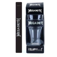 Megadeth Silver Logo Heavy Duty Slap Band Pint Glass