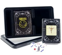Nirvana In Utero and Smiley Dual Pack Playing Cards and Dice (2 Pack)