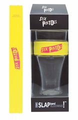 Sex Pistols Pink Logo Heavy Duty Slap Band Pint Glass