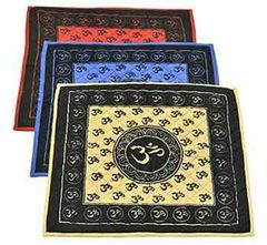 Om Print Cotton Yoga Meditation Mat
