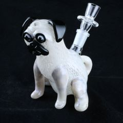 Chameleon Glass Pug Hand Blown Glass Water Pipe Rig Made in the USA