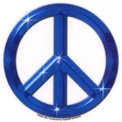 Matt Stewart Chrome Blue Peace Sticker