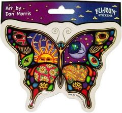 Dan Morris Night and Day Butterfly Sticker