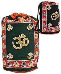 OM DESIGN PRINT COTTON BACKPACK