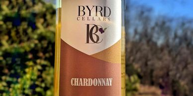 bottle of Byrd Cellars chardonnay oaked