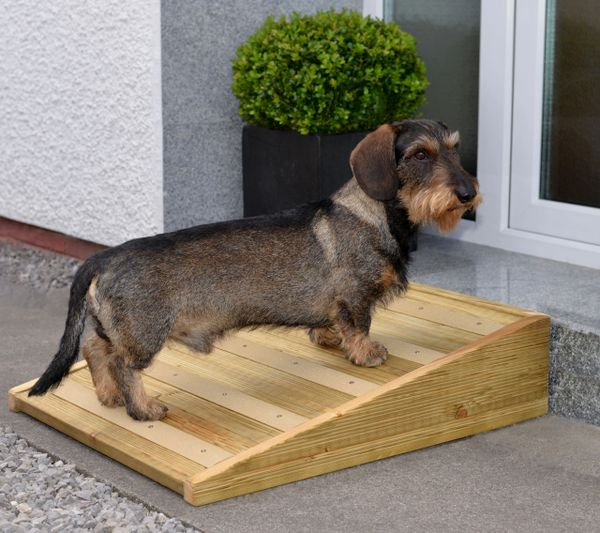 Outdoor Non-Slip Handmade Wood Pet Ramp for Your Dog or Cat