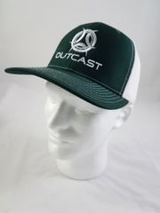 Outcast Trucker Hunter Green/ White