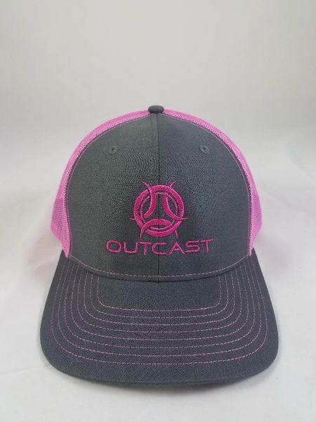 Charcoal/ Hot Pink Outcast Trucker Hat