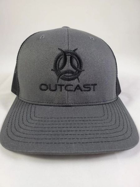Black/ Charcoal Outcast Trucker Hat