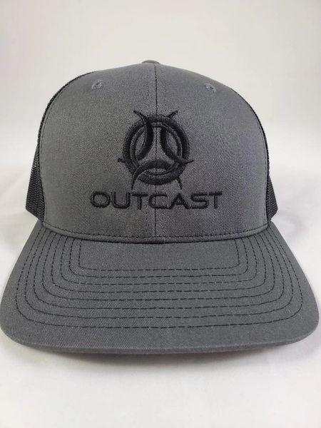 Black/ Charcoal Outcast Trucker Hat