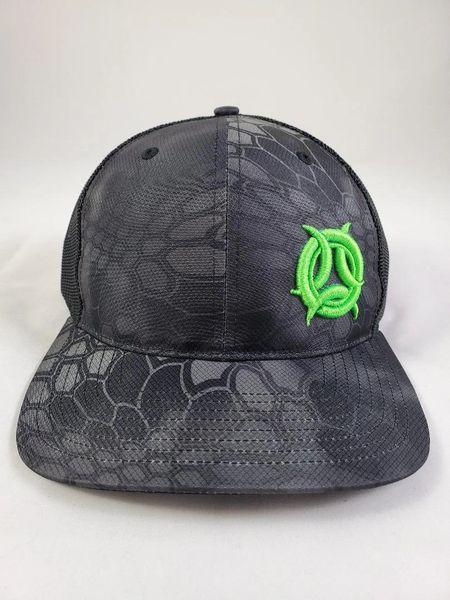 Outcast Trucker Kryptek Black/ 3D Neon Green Logo